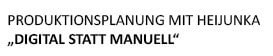 "Produktionsplanung mit Heijunka - ""DIGITAL statt MANUELL"""